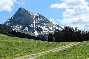 Trail from Moleson Mountain in Switzerland