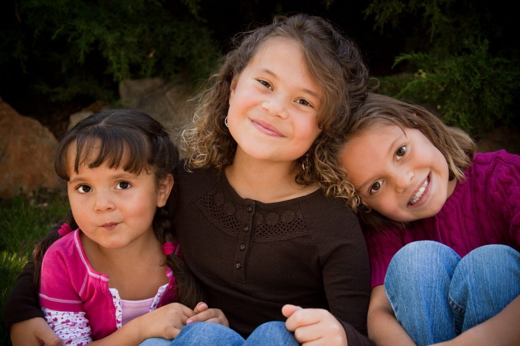 Three young girls in Colorado