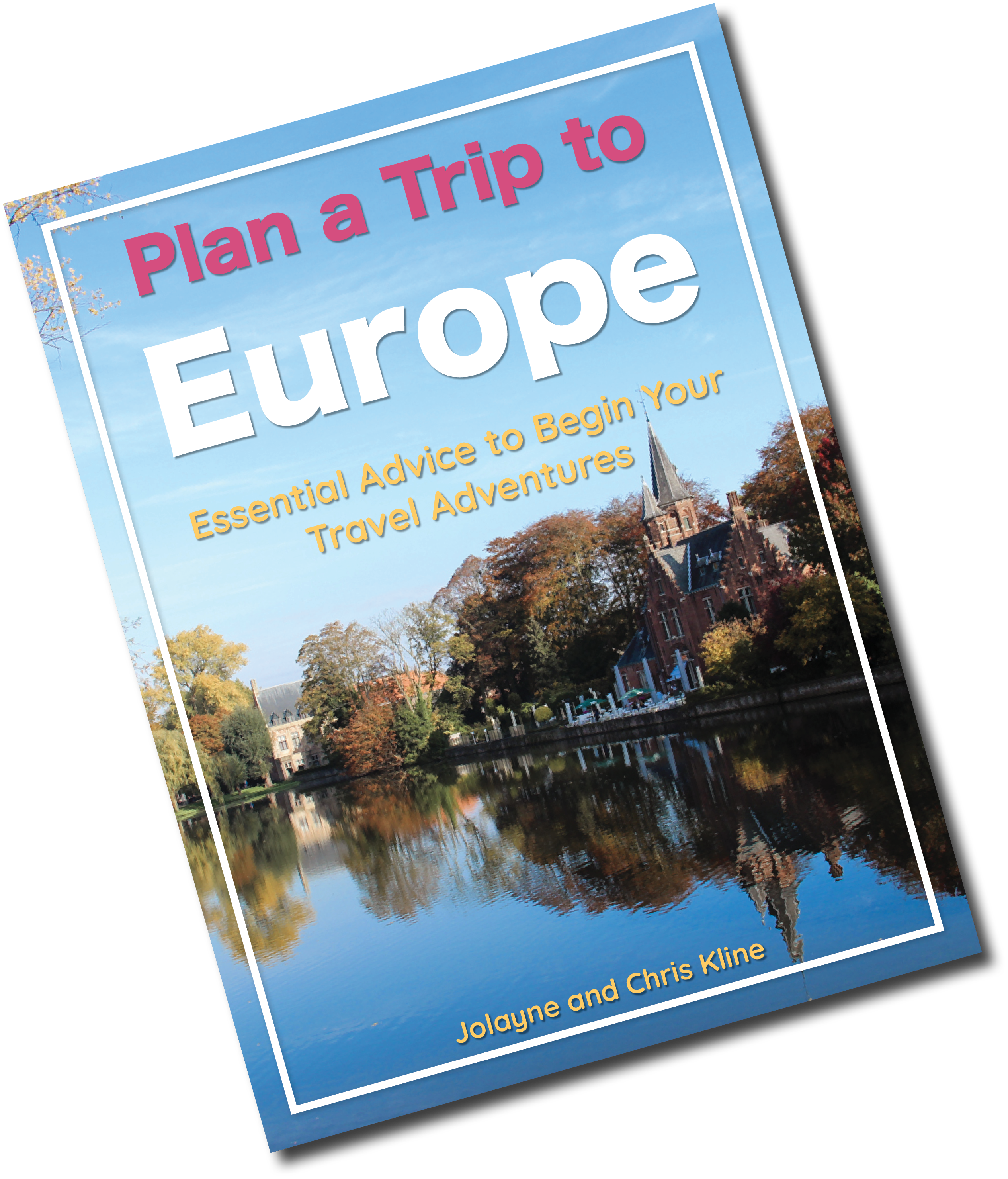 Travel, Plan a Trip to Europe Ebook with transparent background