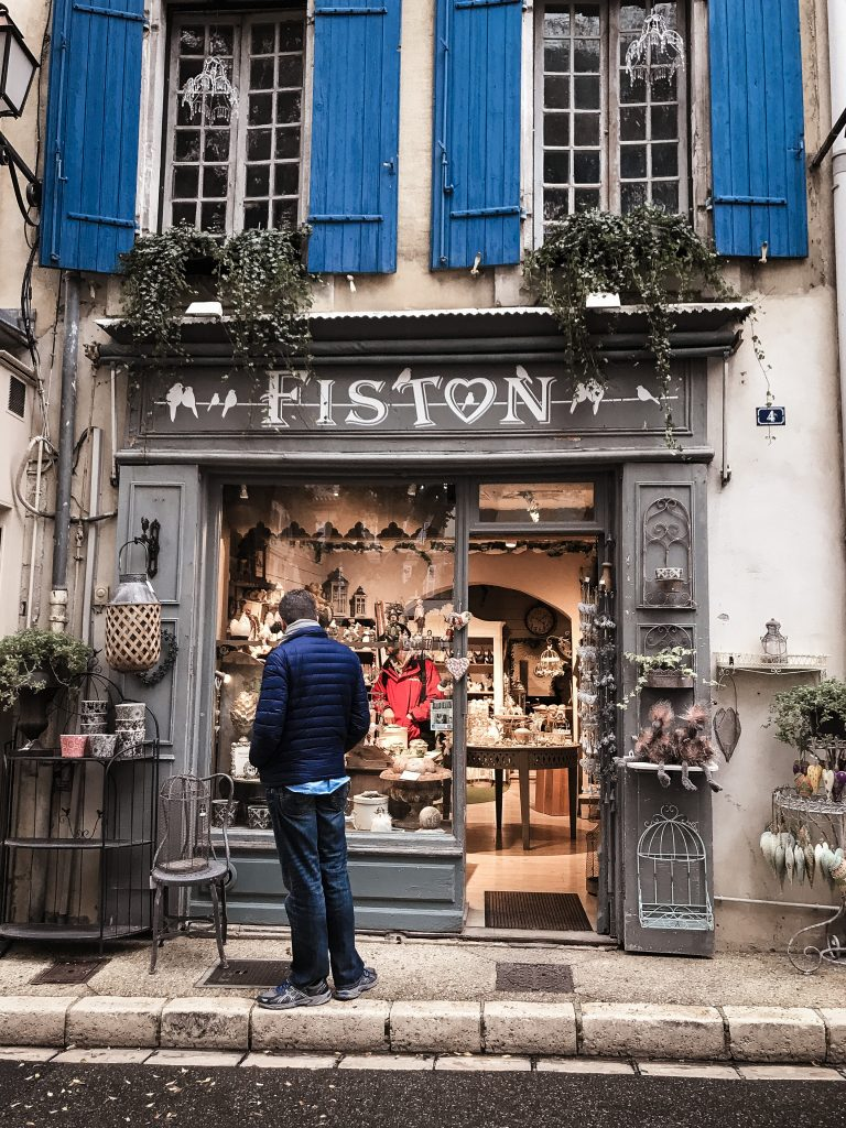 Roussillon France window dressing