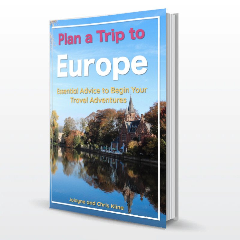 Travel, Plan a trip to Europe with book graphic
