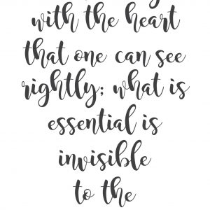 Only With The Heart (8.5×11)