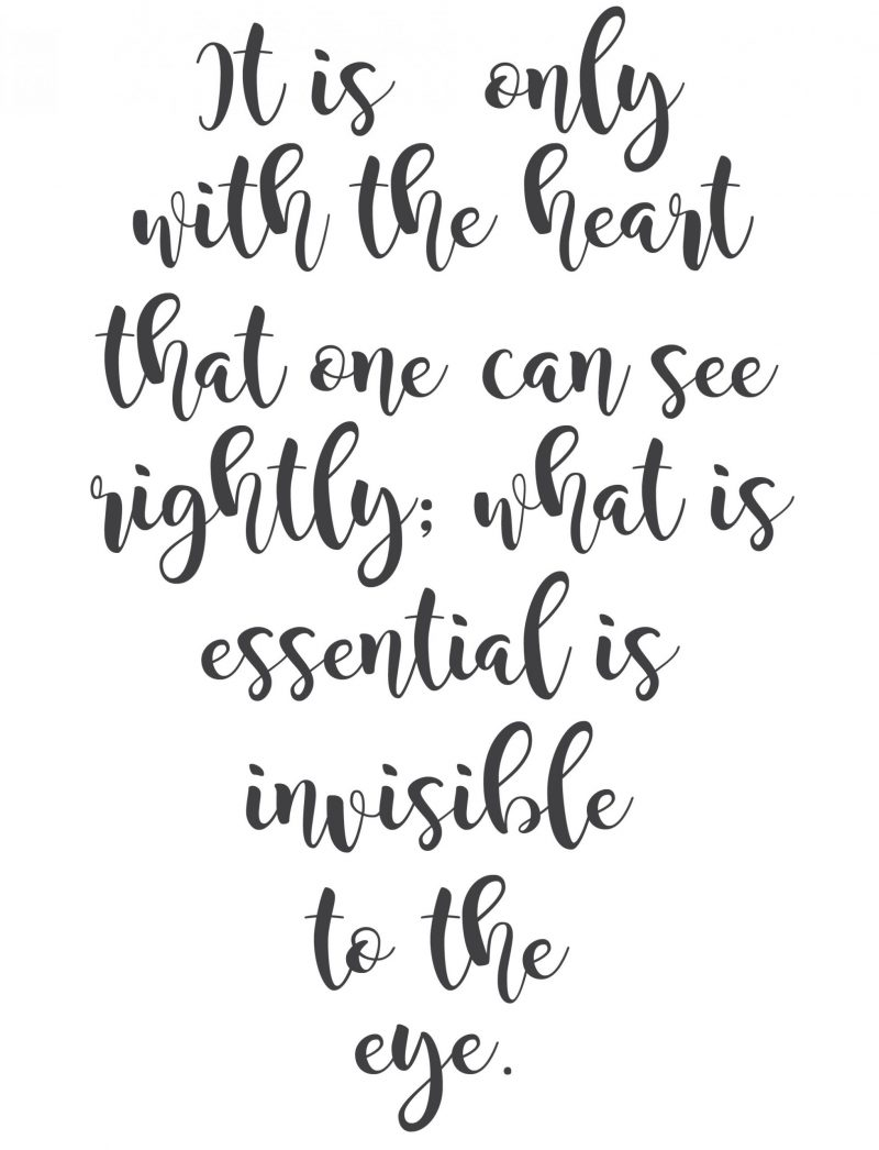 only with the heart white background printable