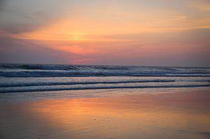 Spring Break in Oceanside California sunset over the Pacific Ocean