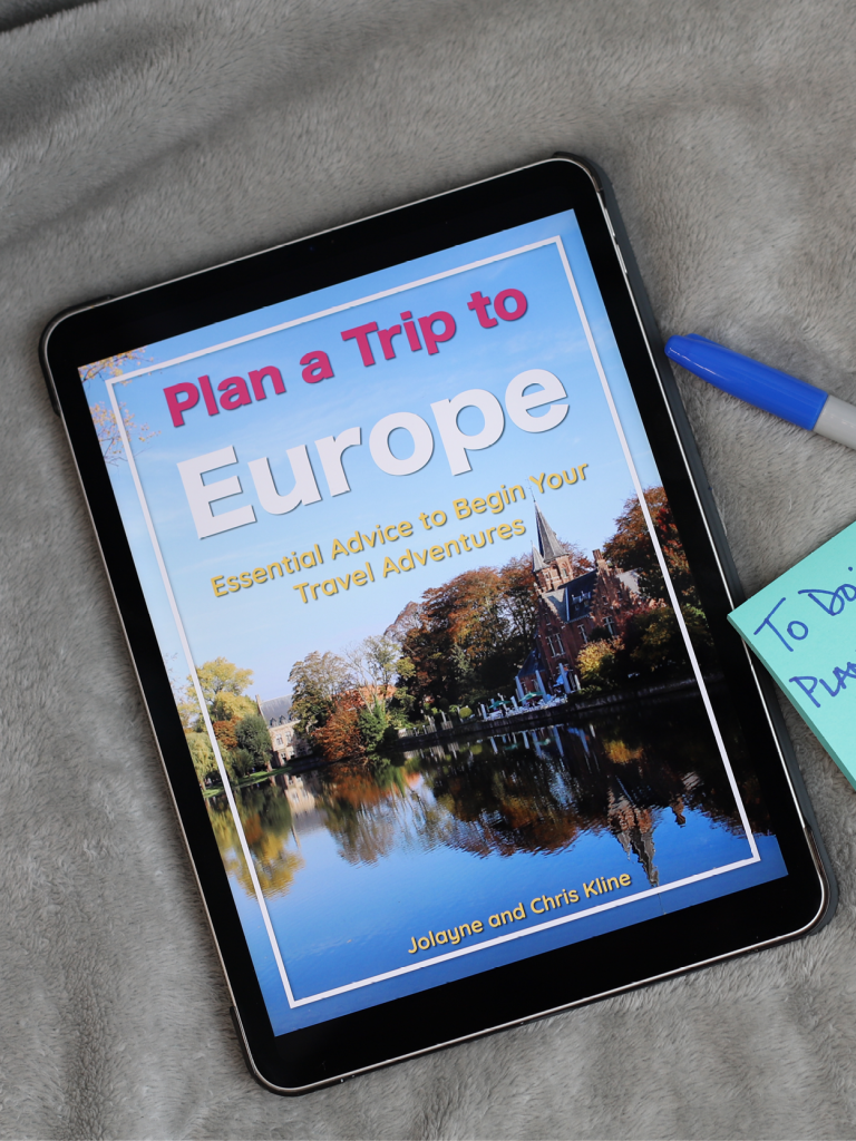Plan a trip to Europe eBook graphic for resources page