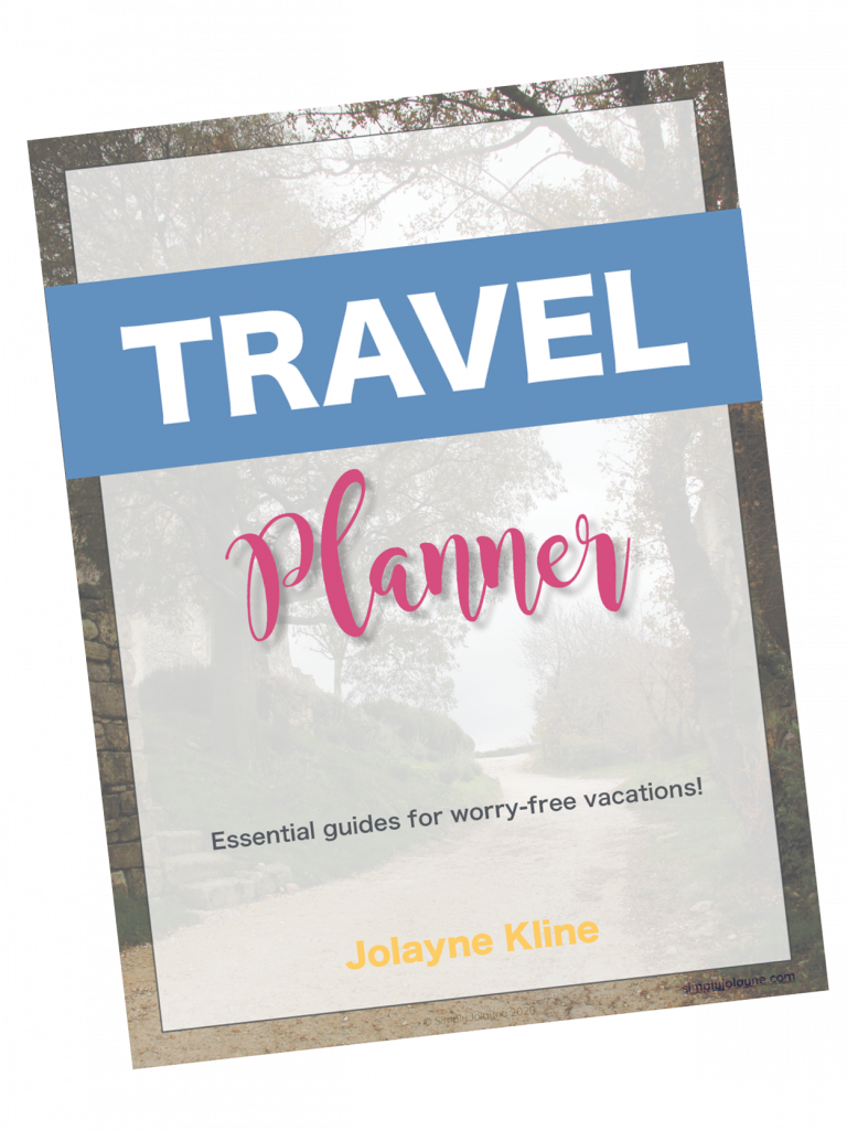 Travel planner for resources page