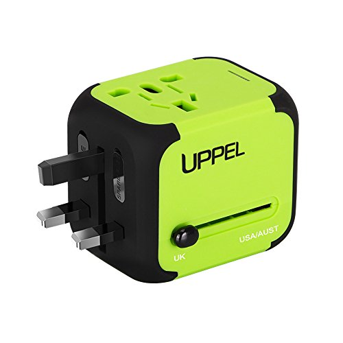 Travel Adapter Uppel Dual USB All-in-one Worldwide Chargers