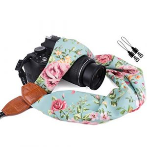 Floral Digital Camera Strap Scarf
