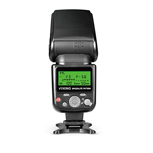 Speedlite External Flash with LCD Display for Canon DSLR