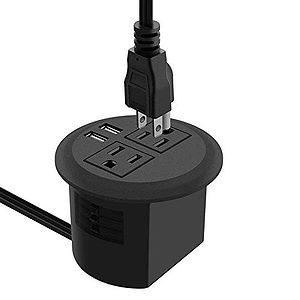 Desktop Power Grommet with USB
