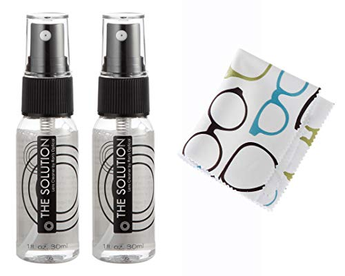 The Solution Lens Cleaner Spray and cloth