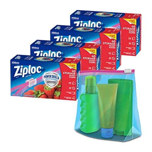 Ziploc Slider Storage Bags Quart Size