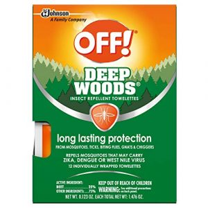 OFF! Deep Woods Mosquito and Insect Repellent Wipes