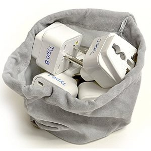 Adapter Plug Set for World Wide International Travel Use
