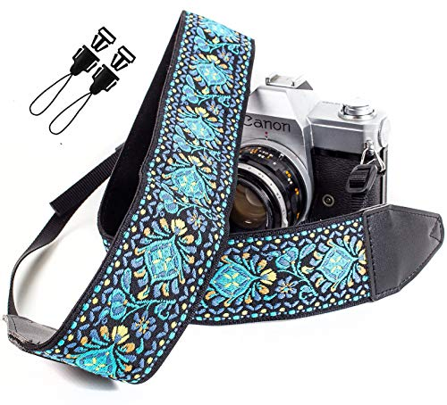 Blue Woven Vintage Camera Strap