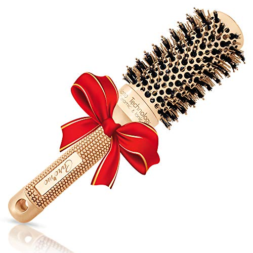 Round Hair Brush with Boar Bristles