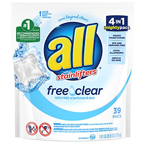 All Free and Clear mighty pacs laundry detergent