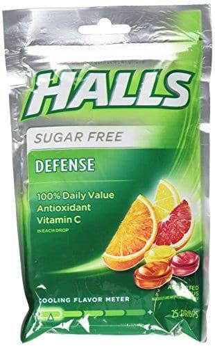 Halls relief cough drops
