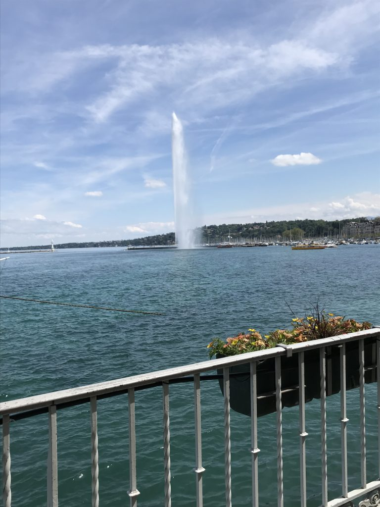 Jet d'Eau in Geneva Switzerland