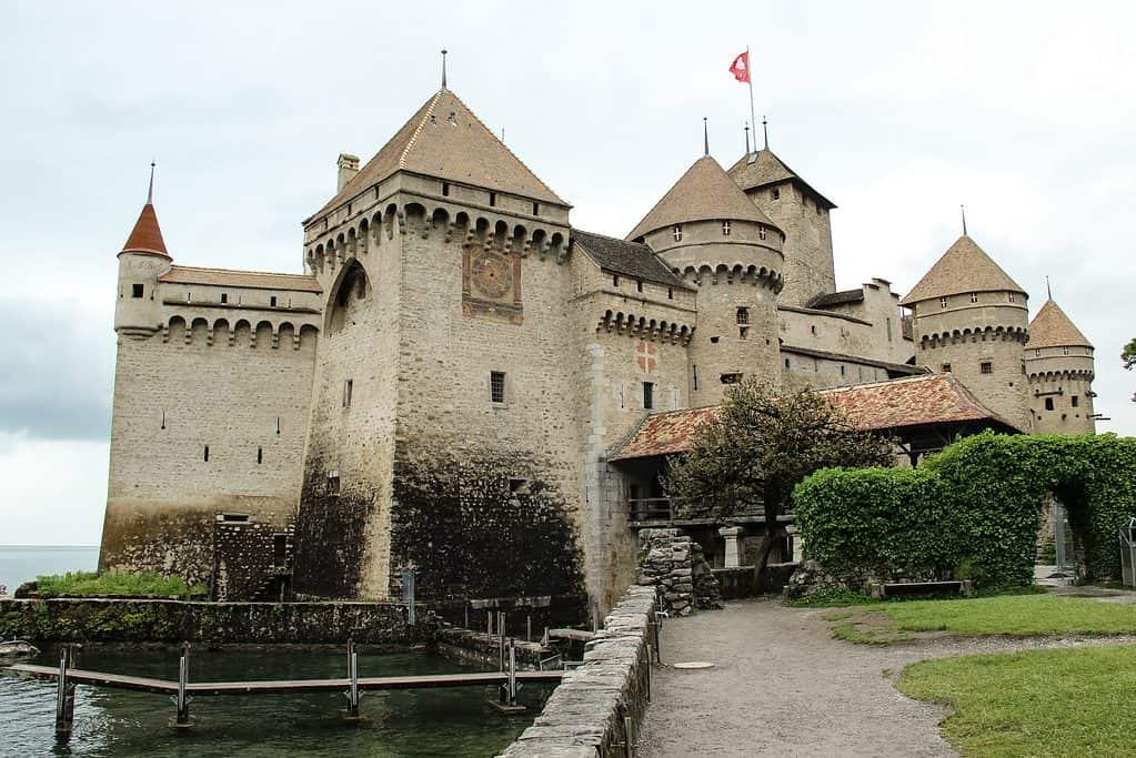 Chillon Castle in Montreaux Switzerland