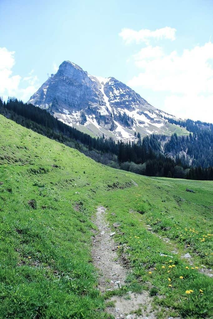 Hiking on Moleson mountain