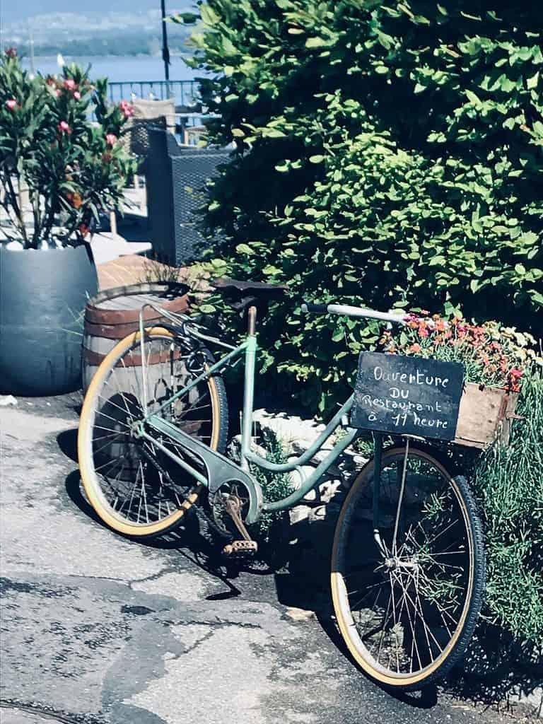 bike in Yvoire France