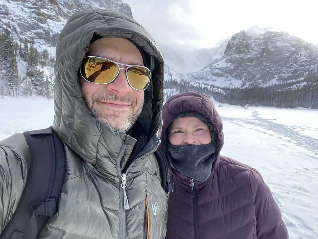 Winter hiking to Loch Lake