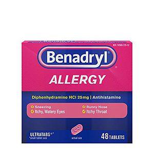 Benadryl Ultratabs Antihistamine Allergy Relief