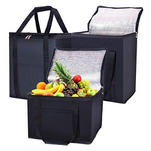 Foldable insulated food cooler