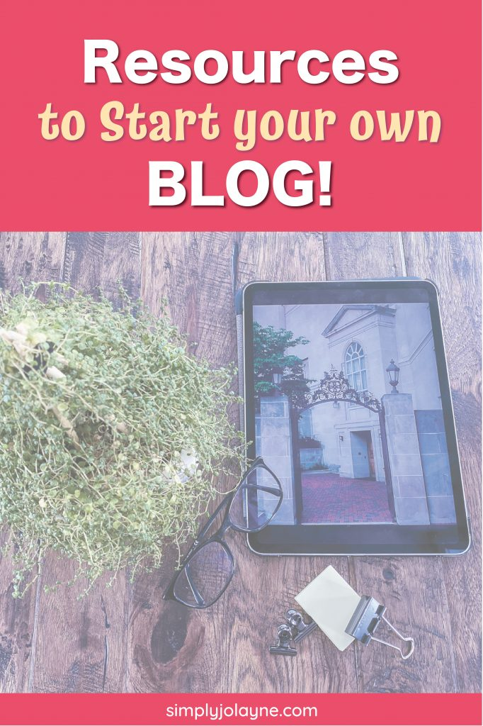 Resources to start your own blog