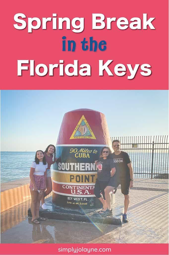 Pinterest pin for Springbreak in Florida