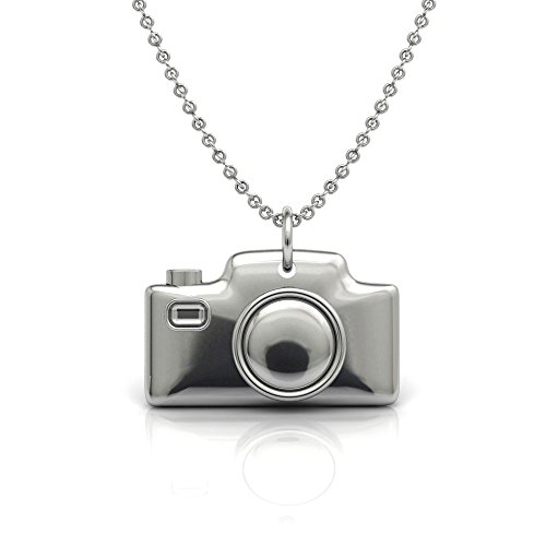 Camera Pendant necklace in sterling silver