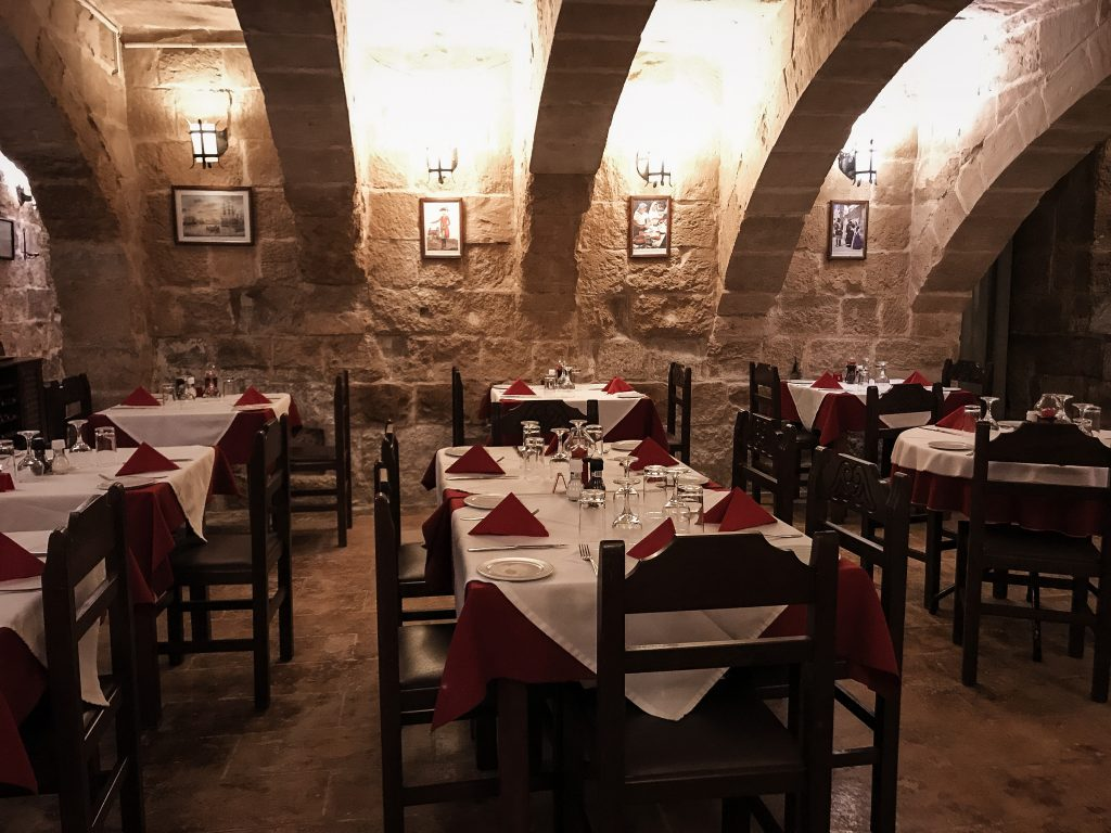 Restaurant in Malta recommended by the hotel concierge