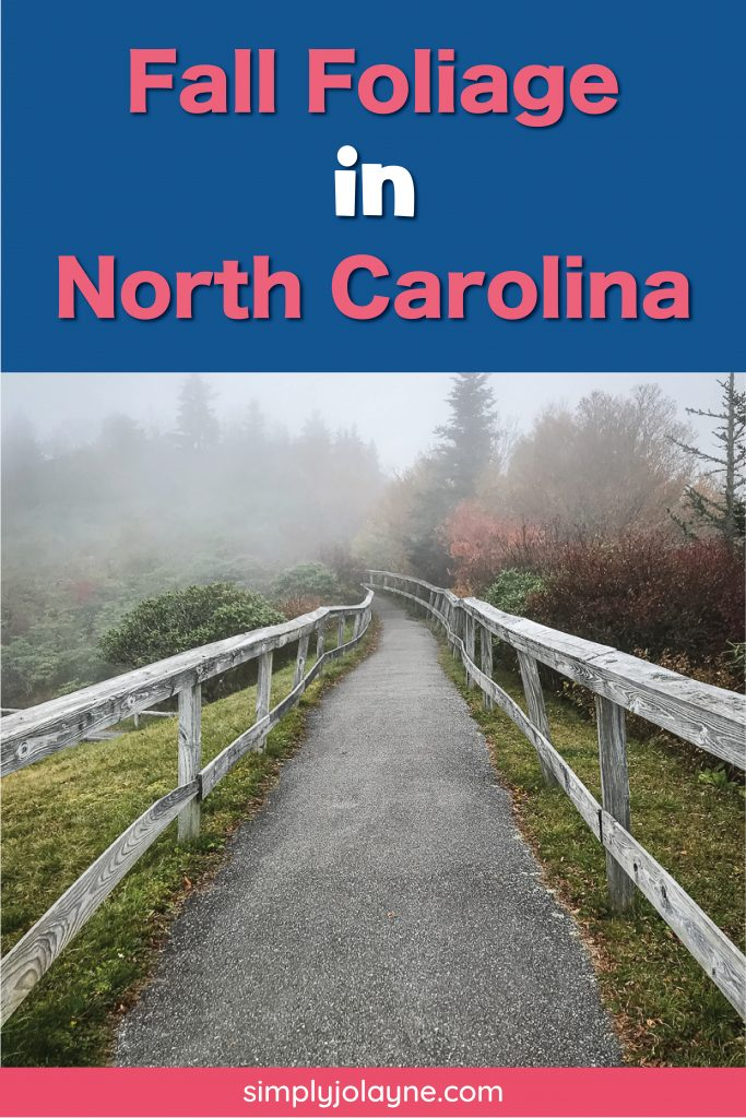 pinterest pin for favorite fall foliage in north carolina