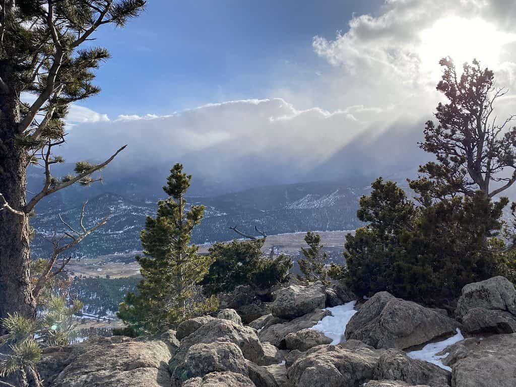 Deer Ridge view in Rocky Mountain National Park