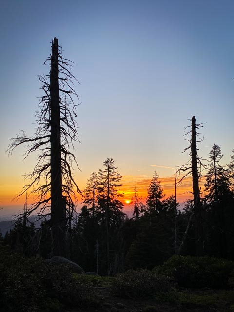 Sunset in Kings Canyon