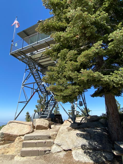 Fire lookout station in Kings Canyon national park