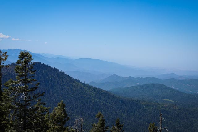 View from fire lookout in Kings canyon
