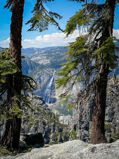 View of Yosemite Falls from Taft point