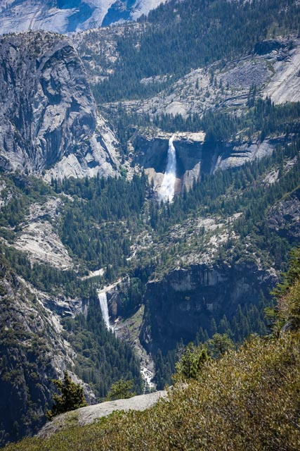 Glacier Point View of Nevada and Vernal Falls
