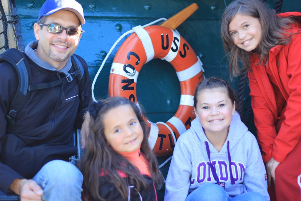 Family on the USS Constitution in Boston