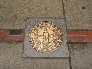 The Freedom Trail sidewalk medallion