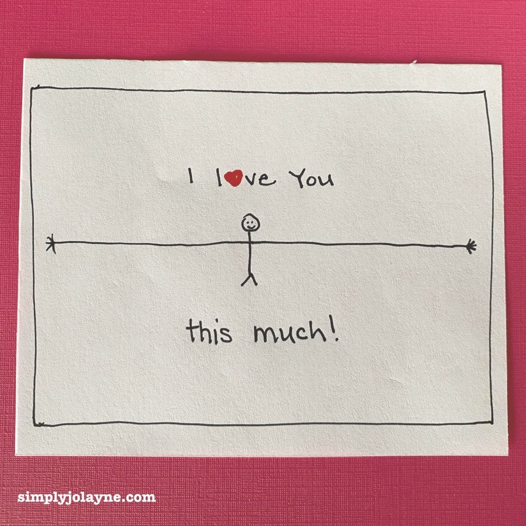 Love notes I love you this much