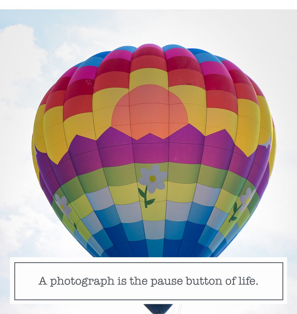 Instagram content quote a photograph is the pause button of life