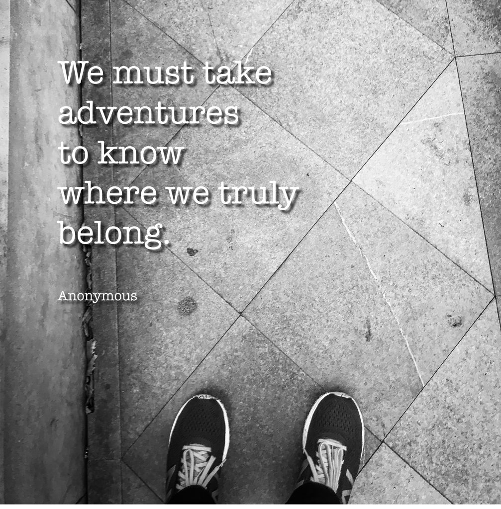 Instagram content quote we must take adventures to know where we truly belong