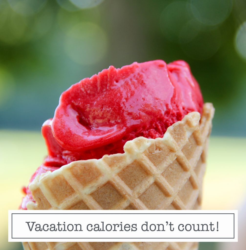 Instagram content quote vacation calories don't count
