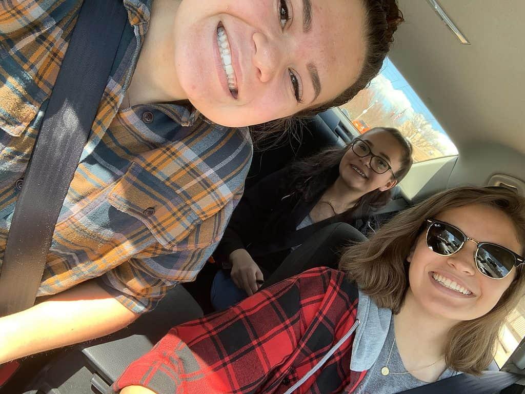 Girls on a car Scavenger Hunt