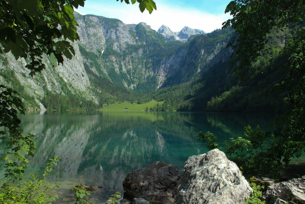 Konigssee is a beautiful lake in Germany