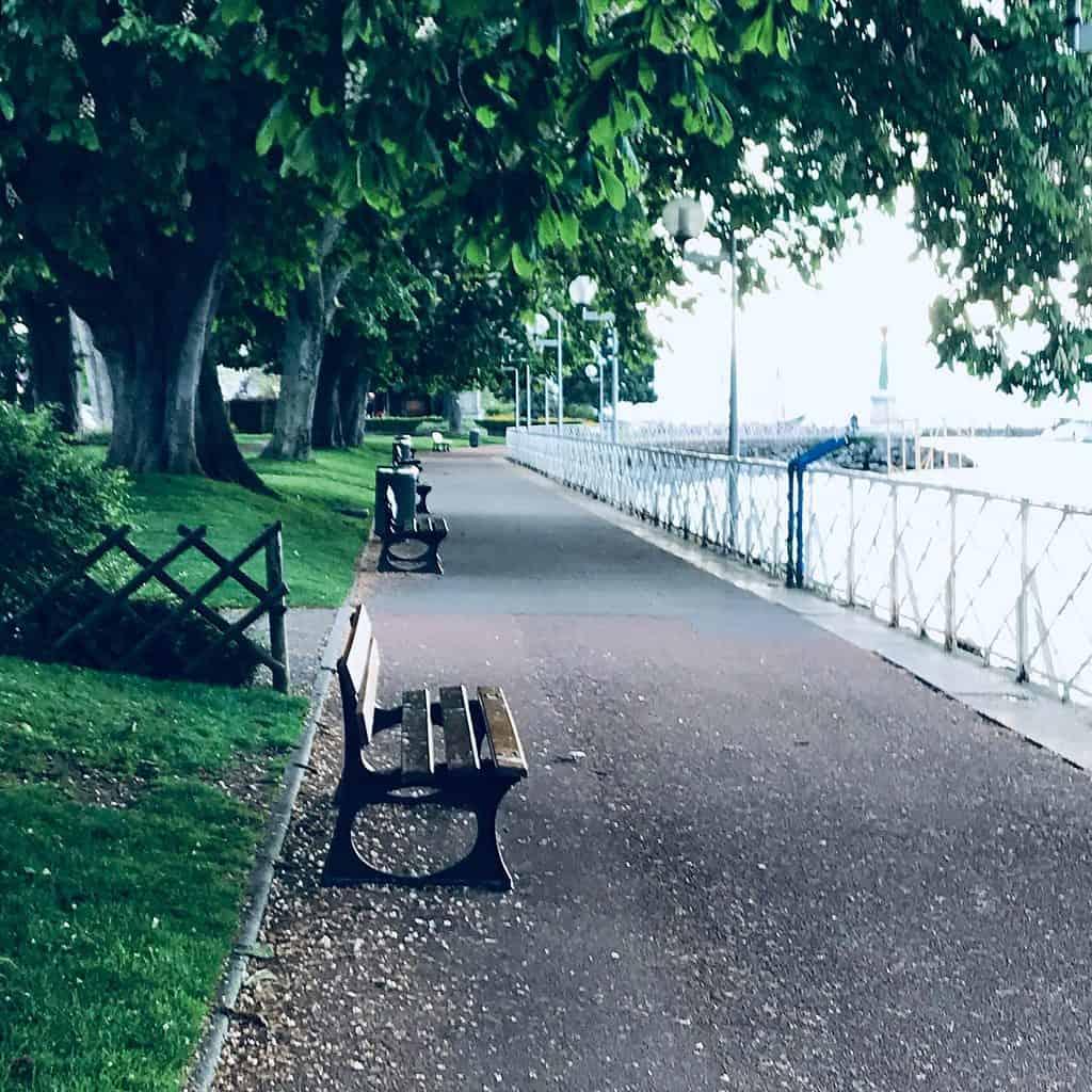 along Lake Geneva in France