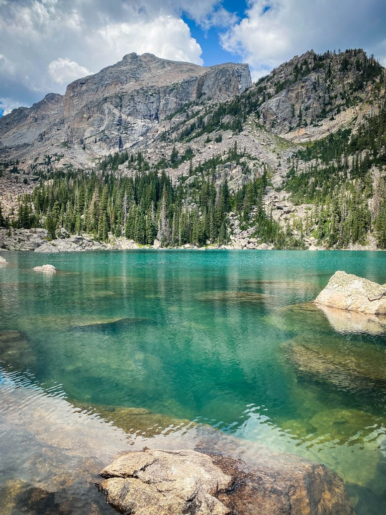 Lake Haiyaha in RMNP is one of the beautiful lakes around the world